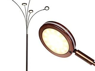 Brightech Orion   Super Bright  Modern lED Arc lamp   5 Adjustable Arms   light Heads Arch Over The Couch   Standing Tree lamp for living Rooms   Bright Hanging lighting   Oil Rubbed Bronze