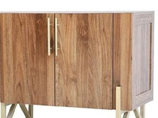 Roomfitters mid century credenza with gold legs