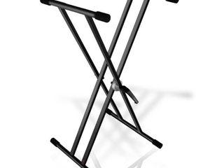 Pyle PKS40   Universal Keyboard Stand  Electronic Digital Piano DJ Table Mount Holder  Height Adjustable