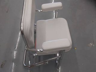 leather folding chair  DAMAGED