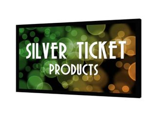 STR 169135 Silver Ticket  135  16 9 4K   8K Fixed Frame Projector Screen  White Material