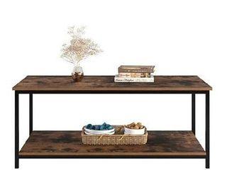 Homfa double tier coffee table