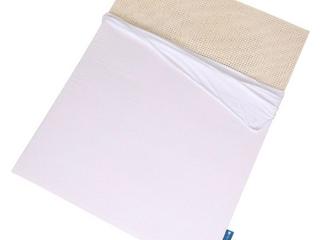 simply nestled 3  naturally organic white mattress topper