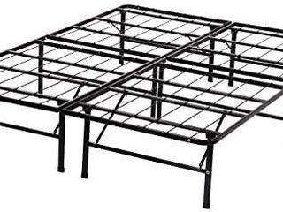 Queen Bed Frame Metal Platform Bed Frame Queen Size 14 Inch Mattress Foundation Box Spring Replacement Heavy Duty Steel Slat Noise Free Easy Assembly Black