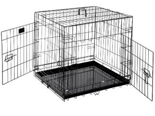 World 48  Folding Metal Dog Crate Includes leak proof Plastic Tray Dog Cr