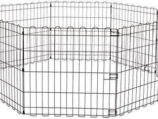 Amazonbasics Foldable Metal Pet Exercise And Playpen With Door  42