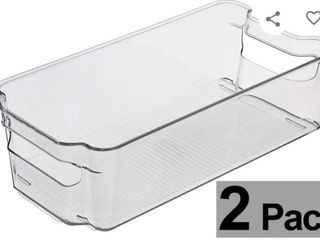 2pack soc homeware wide deep clear container