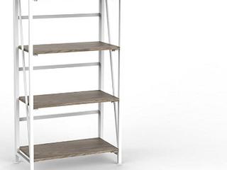 Urban Shop Wood Folding Bookshelf  white