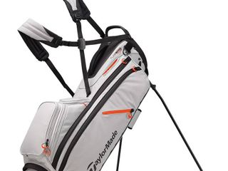 Taylormade Flextech Crossover Stand Golf Bag   White gray blood Orange