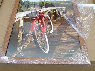 MCS DESIGN FRAME    20  x 30    Brown Frame    Damaged