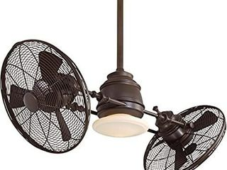Minka Aire F802 ORB Dual Mount  6 Oil Rubbed Bronze Blades Ceiling fan with 102 watts light  Oil rubbed Bronze