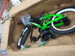 children s bike with training wheels  hardware may be incomplete