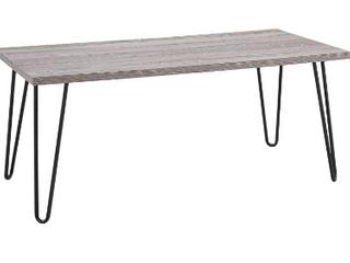 Owen Desk w  metal legs 40  w   black legs