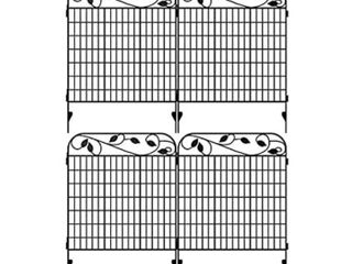 Amagabeli Metal Garden Fence Border 44  x 36  Heavy Duty Tall Rustproof