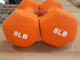 8lB Rubber Coated Exercise Dumbells