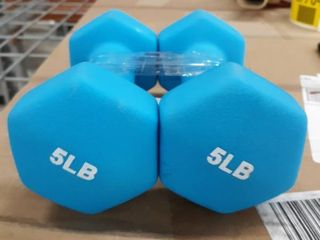5lB Rubber Coated Exercise Dumbell Set