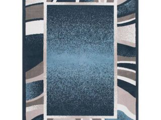Global Rug Design loma lOM03 Blue 5 2  x 7 4  Area Rug