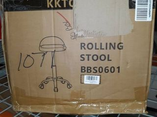 KKTONER PU leather Round Rolling Stool with wheels