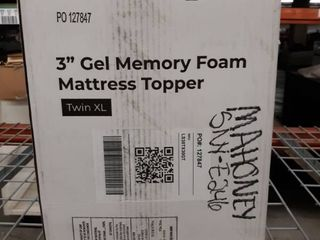 linenspa 3 Inch Gel Infused Memory Foam Twin Xl Size Mattress Topper