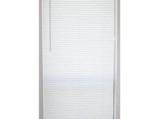 levolor Vinyl Mini Blind  White  Precut To 27 1 2  X 64  Includes Hardware