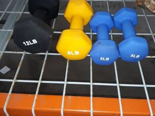 Four Dumb Bells of 5lB 8lB and 12 lB