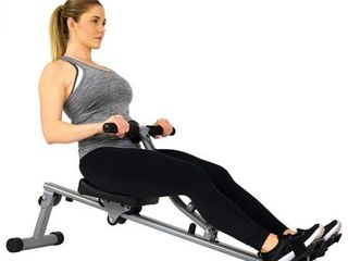 Sunny Health   Fitness SF RW1205 12 Adjustable Resistance Rowing Machine Rower w Digital Monitor
