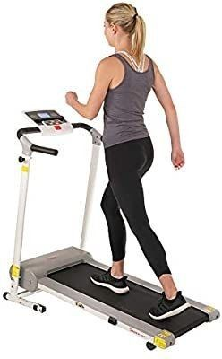 Sunny Health   Fitness SF T1407M Manual Walking Treadmill  Gray