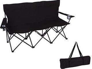 Trademark Innovations double Style Camp Chair with Steel Frame