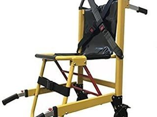 lINE2design EMS Stair Chair 70015 Y Medical Emergency Patient Transfer   2 Wheel Deluxe Evacuation Chair   Ambulance Transport Folding Stair Chair lift   load Capacity  400 lb  Yellow