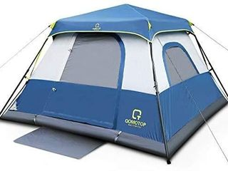 OT QOMOTOP Family Camping Tents  4 6 8 10 Person Instant Setup  60s  Tent with Rainfly and Carry Bag  Waterproof Tents