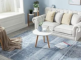 Doormat Runner Rug Abstract Area Rug Indoor Mat Modern Floorcover  2 2  x 7  Blue