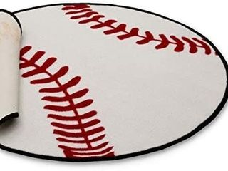 Delta Children Non Slip Area Rug for Boys  Baseball