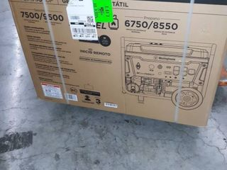 Westinghouse WGen7500DF Dual Fuel Portable Generator   7500 Rated Watts   9500 Peak Watts   Gas or Propane Powered   CARB Compliant