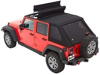 Bestop 56853 35 Black Diamond Trektop for 2007 2018 Jeep Wrangler JK Unlimited 4 Door
