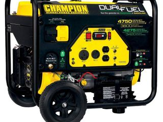 Champion 76533 3800 Watt Dual Fuel RV Ready Portable Generator with Electric Start Retail   2 186 08