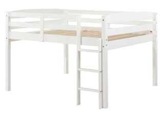 Tribeca White loft Bed Full Size White Finish