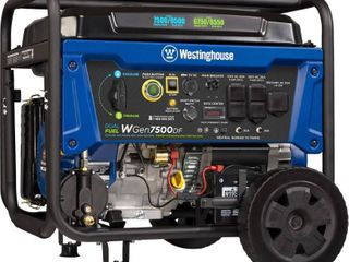 Westinghouse WGen7500DF Dual Fuel Portable Generator   7500 Rated Watts   9500 Peak Watts   Gas or Propane Powered   CARB Compliant Retails   949 00