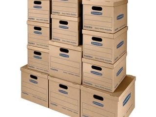 Bankers Box SmoothMove Classic Moving Boxes  8 SM  15l x 12w x 10h  4 Med  18l x 15w x 14h  Brown