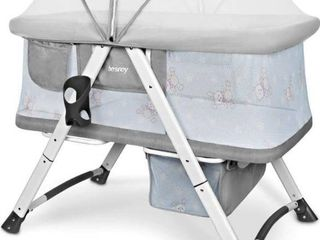 besrey Bassinet for Baby Travel Crib Portable Bed Cot Foldable with Mattress Storage Bag