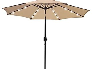 Sunnyglad 9 ft lED Umbrella