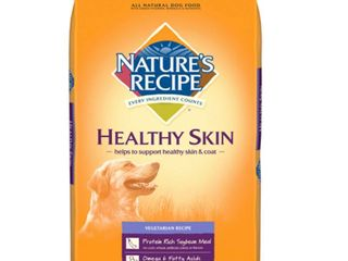 NATURE S RECIPE 799830 Healthy Skin Vegetarian Dry Dog Food  30 Pound