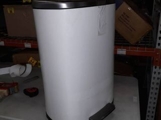 White Metal 26 inch trash can