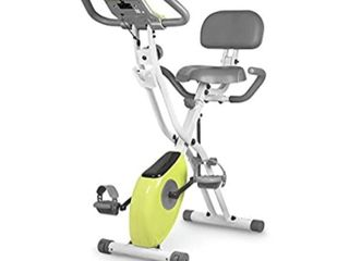 leikefitness lEIKE X Bike Ultra Quiet Folding Exercise Bike  Magnetic Upright Bicycle with Heart Rate lCD Monitor and easy to assemble 2200  YEllOW