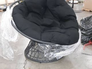 Black Papasan chair with cushion