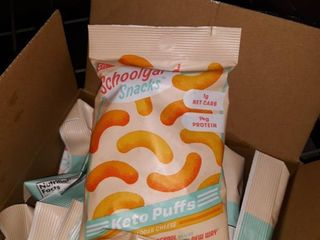 2 boxes of Mix Schoolyard Snacks Keto Puffs 2 Cheddar Cheese   3 Flaming Hot 5 21