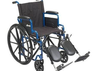 Transport WheelchairWheelchairs K1 Product Description  BlueStreak18 D l FlipBackArms Elev 1 cs