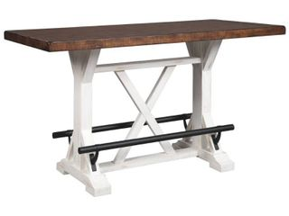 Signature Design by Ashley Valebeck White Brown Rectangular Dining Room Counter Height Table