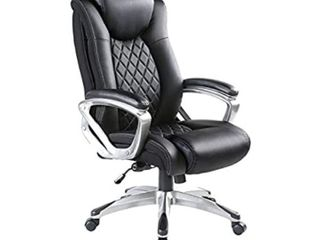 Bowthy Ergonomic Office Chair with Adjustable lumbar Support High Back leather Swivel Black 181 4 kg retail   279 99
