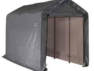 6 x 12 x 8 ft  Peak Grey Pop Up Shed
