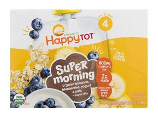 Happy Tot Morning Yogurt and Oats  Banana Blueberry  4 Ounce  Pack of 8